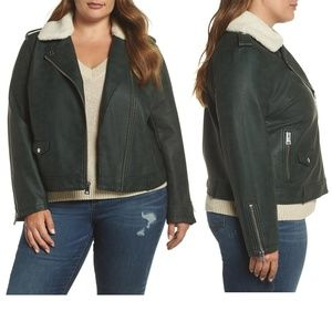 Levi's Emerald Faux Fur Leather Moto Jacket
